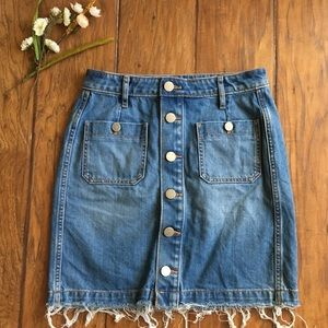 •LOFT• denim skirt
